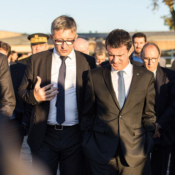 Visite du Premier Ministre au château Luchey-Halde de Bordeaux Sciences Agro