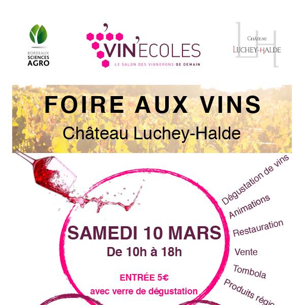 Vin'Écoles 2018 – Foire aux vins des lycées viticoles