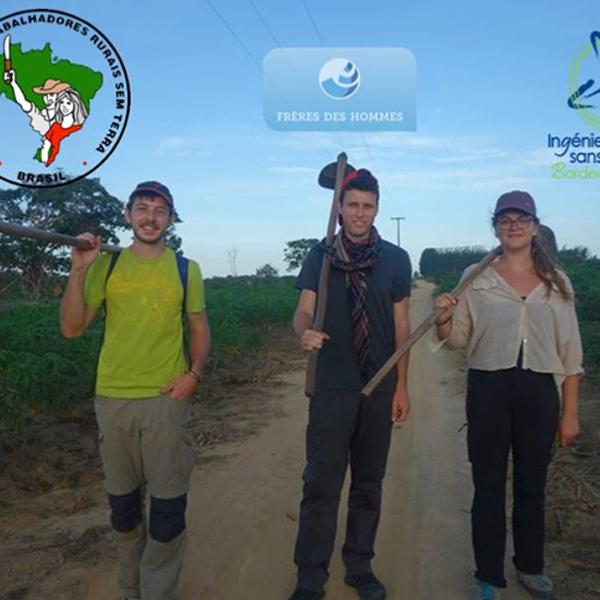Victor, Ambre et Vivien, trois élèves ingénieurs agronomes à la découverte des Sans Terres au Brésil