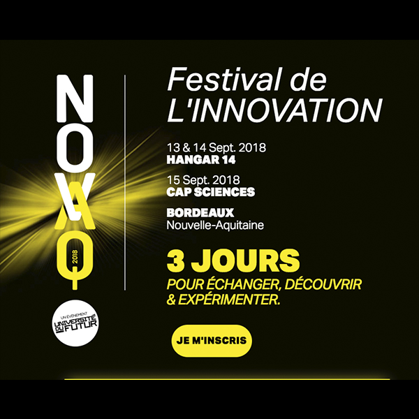 NovAQ – Festival de l'innovation 13-15 sept.