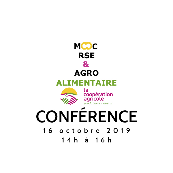 [SAVE THE DATE] 16 oct. Conférence du MOOC RSE & Agroalimentaire SAISON 2 !