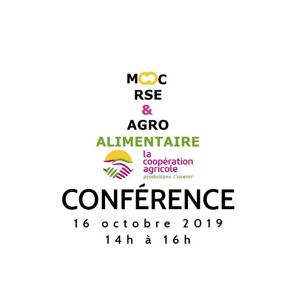 [SAVE THE DATE] 16 oct. Conférence du MOOC RSE & Agroalimentaire SAISON 2 !