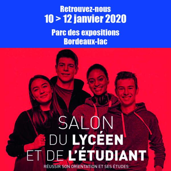 [SALON] 10>12 janv. 2020 Salon du lycéen et de l'étudiant –Bordeaux