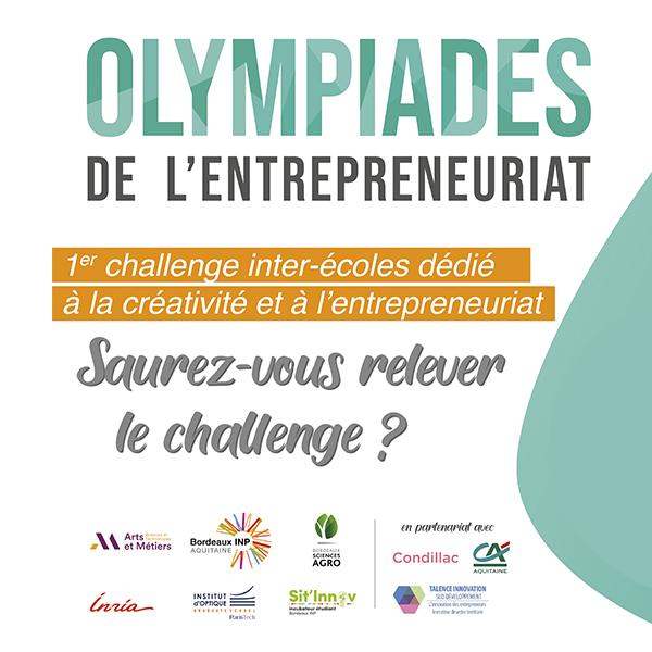 [Challenge]Olympiades de l'entrepreneuriat, les 11 et 12 mars 2020