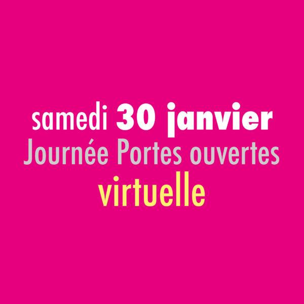[Save the date] Samedi 30 janvier 2021 –Journée Portes ouvertes – virtuelle