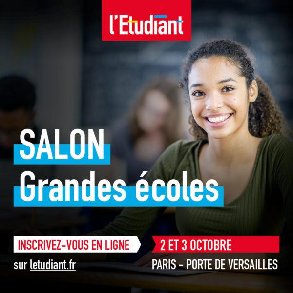 [Recrutement] Salon des Grandes écoles 2021 – Paris Porte de Versailles